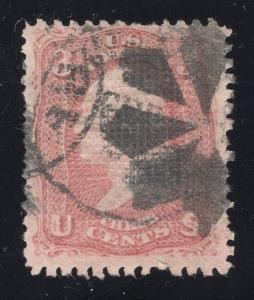 US#85 Rose,D Grill - Town & Fancy Cancels - Cat:$1,000.00 - Free Shipping