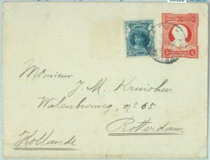 86106 - URUGUAY - POSTAL HISTORY - STATIONERY COVER to HOLLAND w/ added STAMPS