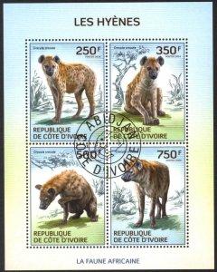 Ivory Coast 2014 Hyena Sheet Used / CTO