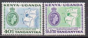 Kenya,Uganda,Tanz.  #118-19  MNH  (1958)  c.v. $1.80