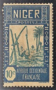 NIGER SC #34  **MH** 10c  1926-40     SEE SCAN