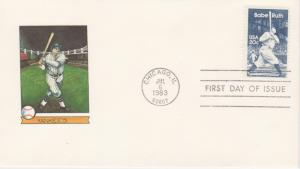 1983 BABE RUTH 20 Cent FDC, NEW DIREXIONS