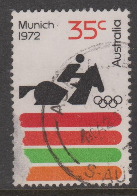 Australia SG521 1972 Olympics Equestrian Used Spacefiller