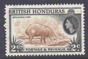Br Honduras Scott 145a - SG180b, 1953 Elizabeth II 2c Perf 13.1/2 x 13 MNH**