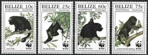 1997 Belize WWF, Howler Monkey, complete set VF/MNH! LOOK!