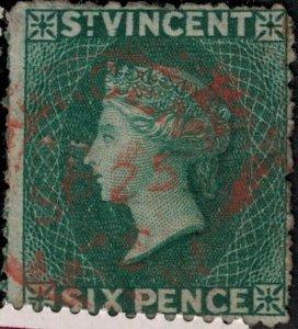 St Vincent 1863-1869 SC 8 Used SCV $83.00