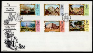 Jersey 340-346 Paintings U/A FDC