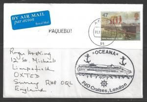 2004 Paquebot cover, British stamp used in Aruba (01.XiI.04)