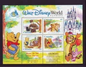 Canada Sc 1621b 1996 Winnie the Pooh stamp sheet mint NH
