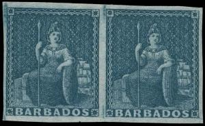 Barbados Scott 3a Gibbons 4a Mint Stamp