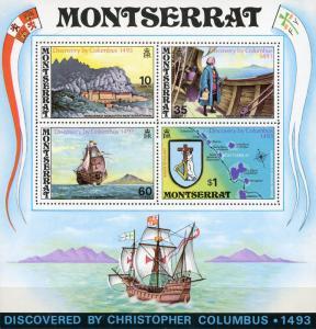 Montserrat #295a 480th Anniv. Discovery of Montserrat MNH