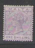 Malta Sc 13 1885 1 shilling Victoria stamp mint