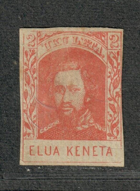 Hawaii Sc#28 M/H/F-VF, Genuine Stamp, Tiny Tear At Top, Light Scraping, Cv. $325