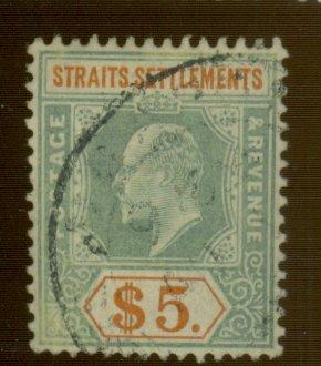 Straits Settlements #127 Used F-VF Cat$210
