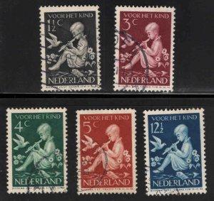 Netherlands Scott B108-112 Used semi-postal set