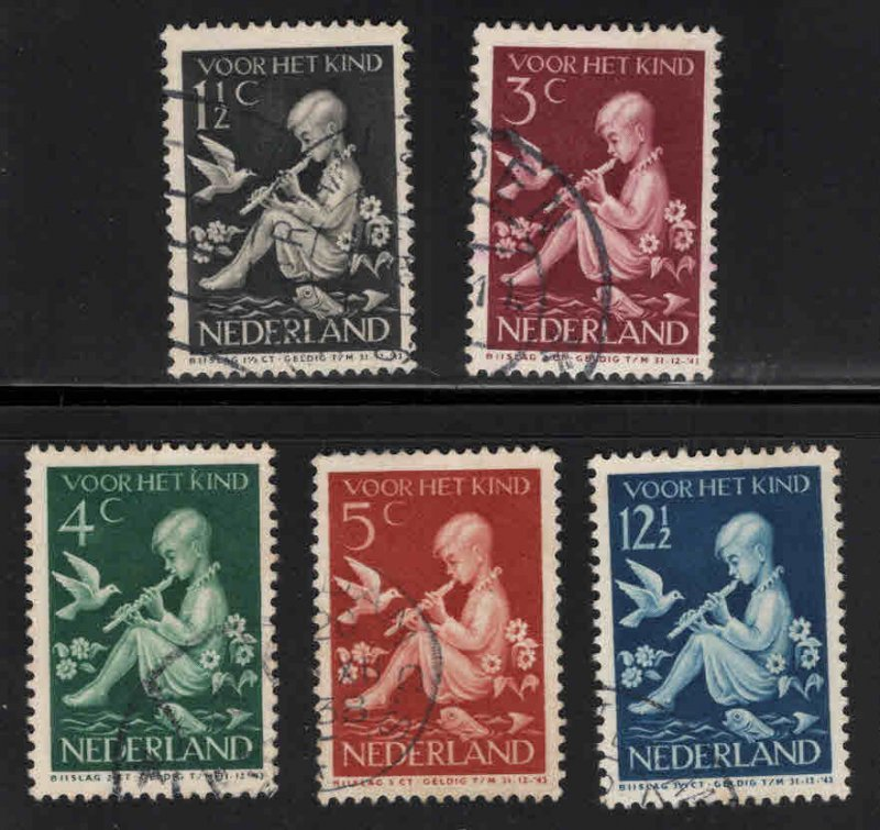 Netherlands Scott B108-112 Used semi-postal set