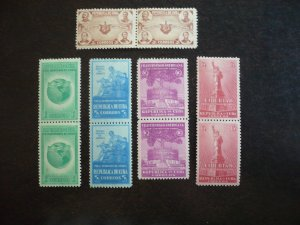 Stamps - Cuba - Scott# 368-372 - Mint Hinged Set of 5 Stamps in Pairs