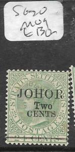 MALAYA JOHORE  (P0612B) QV 2C/24C  SG 20  MOG
