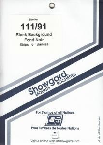 SHOWGARD BLACK MOUNTS 111/91 (6) RETAIL PRICE $5.50