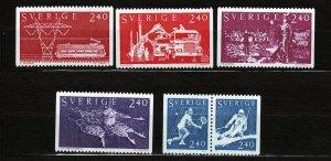 J23059 JLstamps 1981 sweden mnh set #1378-83 designs
