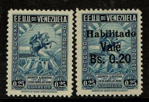 Venezuela SC# 344 and 387, 344 Never Hinged, 387 Lightly Hinged - S10970