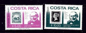 Costa Rica C752-53 MNH 1979 Sir Rowland Hill