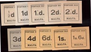 Malta #J1 - #J10 XF Mint Set