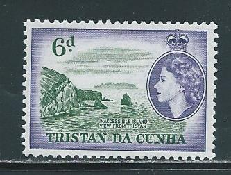 Tristan da Cunha 22 1954-8 6d Views single MNH