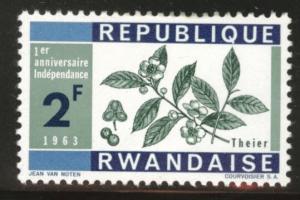 RWANDA Scott 32 MH*key stamp