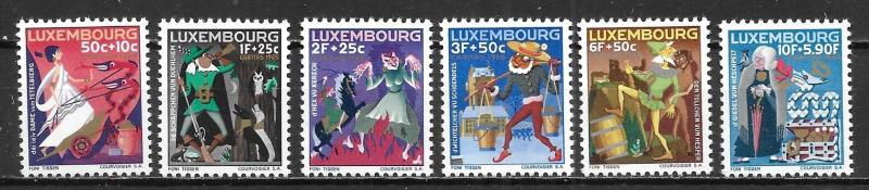 Luxembourg B246-51 Fairy Tales set MNH