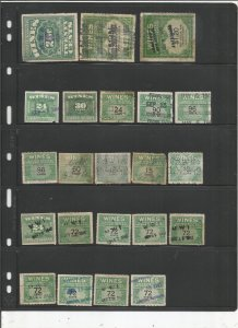 US WINE REVENUE STAMP COLLECTION