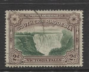 Southern Rhodesia- Scott 31 - Victoria Falls  -1932 - FU - Single 2d Stamp