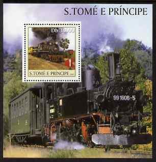 St Thomas & Prince Islands 2003 Steam Locomotives per...