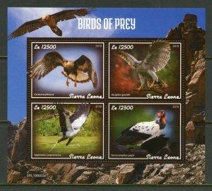SIERRA LEONE 2019  BIRDS OF PREY  SHEET MINT NEVER HINGED