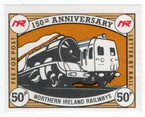 (I.B) Northern Ireland Railways : 150th Anniversary Stamp 50p