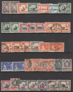 KUT, KGVI Issue Group (mint/used) (3 scans)