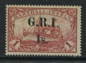 New Britain, G.R.I. 1s. overprinted on Marshall Islands 1 mark mint o.g. hinged