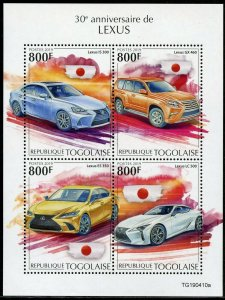 TOGO 2019 30th ANNIVERSARY OF THE LEXUS SHEET MINT NH