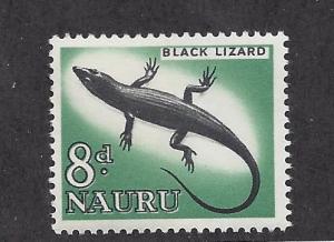 Nauru, 52, Black Lizard Single,**MNH**