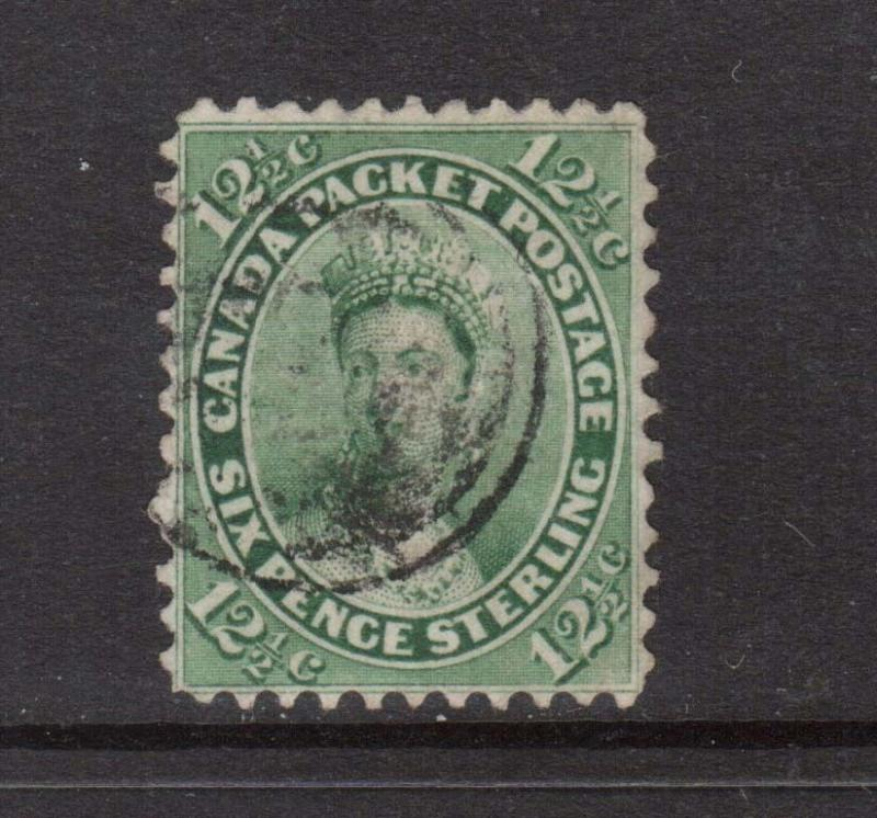 Canada #18 VF Used **With Certificate**