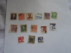 BRAZIL STAMPS. LOT OF 14 STAMPS. MIXED CON. # 20