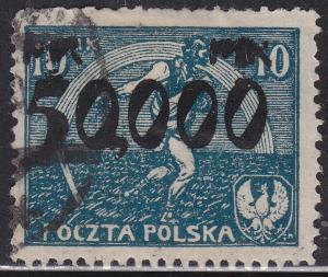 Poland 197 Sower & Rainbow of Hope 50,000Mk O/P 1923
