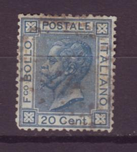 J16922 JLstamps 1867-77 italy king used #35