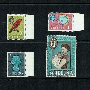 St Helena: 1965, definitive reprints on chalk coated paper, MNH