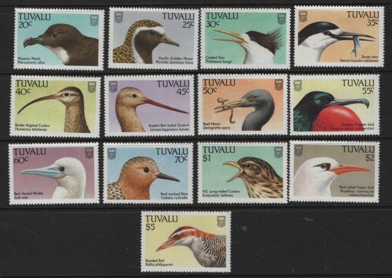 TUVALU, 472-484, (13)SHORT SET, MNH, 1988, BIRDS