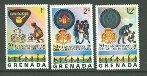 Grenada # 724-726 Girl Guides   (3) Mint  NH