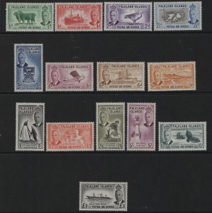 FALKLAND ISLANDS 107-120 MINT HINGED, 1952 SET