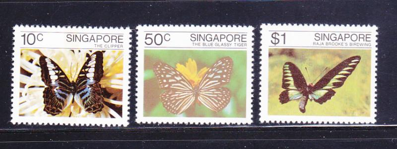 Singapore 387-389 Set MNH Insects, Butterflies (B)