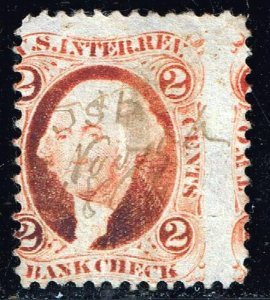 USA STAMP #R6 2c 1862 Revenue Stamp MISPERF ERROR