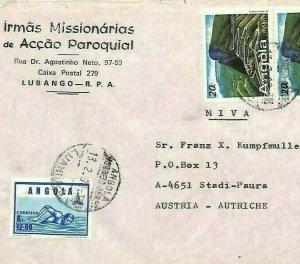ANGOLA Cover *Irmas Missionarias Lubango* 1990 MISSIONARY MAIL Air MIVA CA144